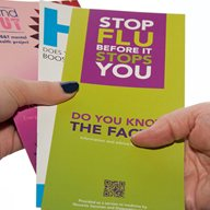 Public health leaflets, including one on flu