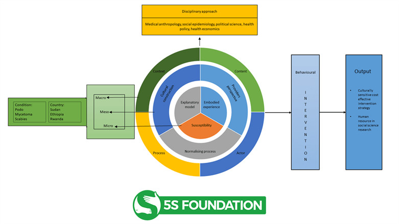 A flowchart illustrating the structure of the 5S Framework