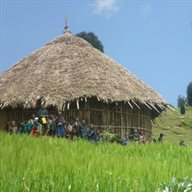 Hut and people_web